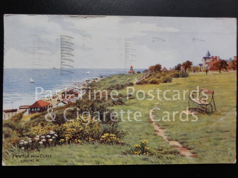 c1961 Essex: Frinton from Cliffs looking W - Artist A R Quinton Salmon No.3753
