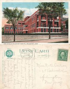 BRIDGEPORT CT HOSPITAL 1916 ANTIQUE POSTCARD