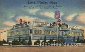 Zinn's Modern Diner, near Reading and Lancaster, PA Unused