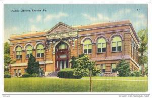 Public Library , Easton , Pennsylvania , 30s-40s