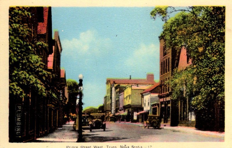 Truro, Nova Scotia, Canada - Cars on Prince Street West - c1920