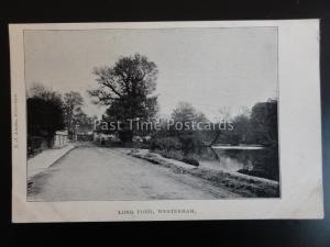Kent WESTERHAM Long Pond c1905 by T.A. Hughes of Westerham