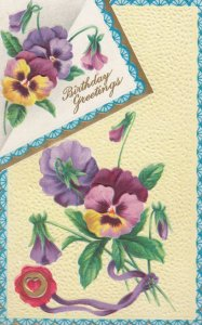 Pansy Flower BIRTHDAY Greetings , 00-10s