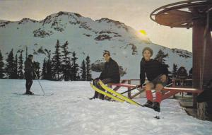 Skiing , Whistler Mt , B.C. , Canada , 50-60s Top of Chair Lift
