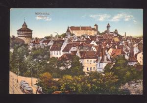 NURNBERG GERMANY PANORAMA BIRDSEYE VIEW ANTIQUE VINTAGE POSTCARD