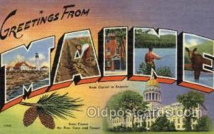 Maine, USA Large Letter States Postcard Postcards  Maine, USA