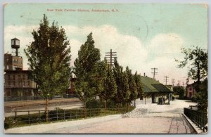 Amsterdam NY~New York Central Station~Wagon Bridge~Water-tower