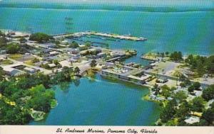 Florida Panama City St Andrews Marina Aerial View 1975