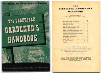 THE VEGETABLE GARDENER'S HANDBOOK, 1943