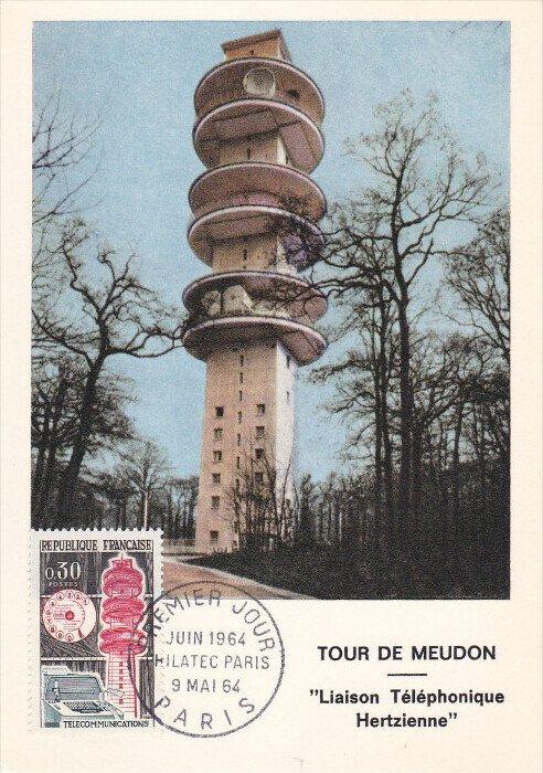 FRANCE, PU-1964; Tour De Meudon, Liaison Telephonique Herzienne