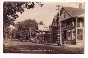 Main St, Groton Vermont, Row Boats, Real Photo Lee S Blanchard Sign, Eastern ...