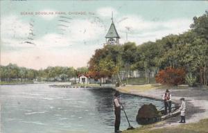 Illinois Chicago Scene In Douglas Park 1908