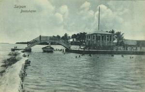 Northern Mariana Islands, SAIPAN, Boathouse (1910s) Postcard