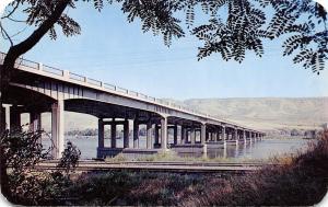 Lewiston Idaho~Memorial Bridge~1951 Postcard