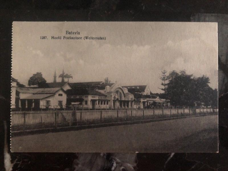 Mint Netherlands Indie RPPC Real Picture Postcard Batavia main post office