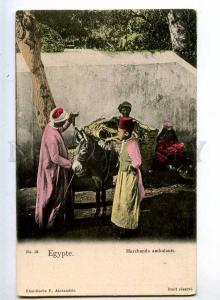 241130 EGYPT Alexandrie hawkers boy Vintage tinted postcard