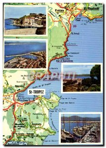 Modern Postcard From Saint Tropez
