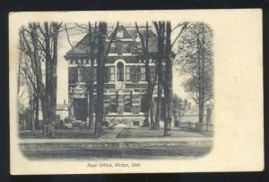 PICTON ONTARIO CANADA POST OFFICE ANTIQUE VINTAGE POSTCARD SEDALIA MISSOURI