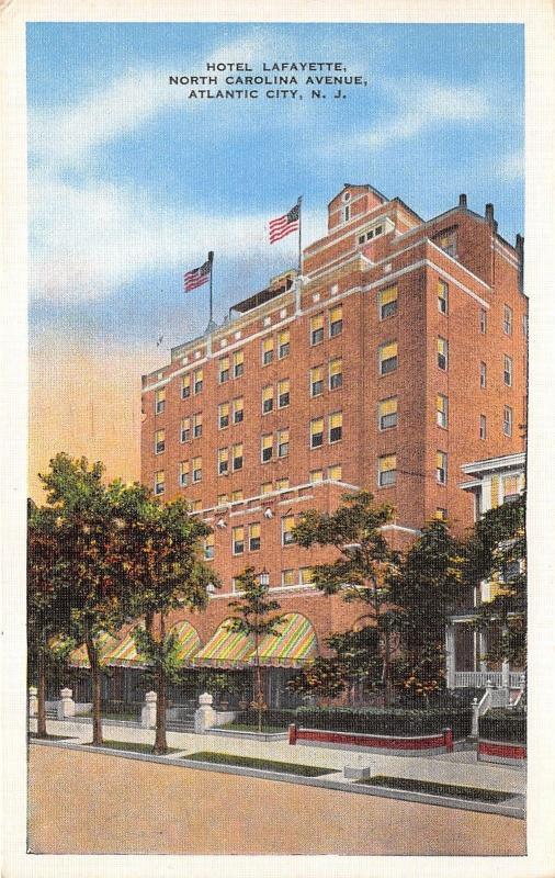 Atlantic City New Jersey Hotel Lafayette Colorful Awnings Christmas