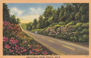 Michigan Greetings From Ithaca 1951