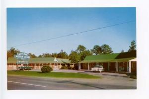 Bolivia NC Green & White Motel Old Cars Postcard