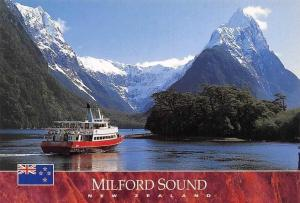 New Zealand Milford Sound Mitre Peak II Boat Mountain