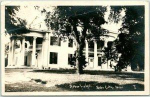 Nebraska City, Neb. RPPC Real Photo Postcard ARBOR LODGE Mansion View - 1920