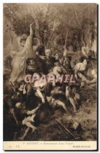Old Postcard Baudry Euterrement D & # 39A Vestal Museum of Lille