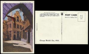 Chicago Worlds Fair 1933 Belgian Village unused
