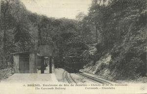 brazil, RIO DE JANEIRO, Chemin de Fer du Corcovado, Railway Train (1920) Stamps