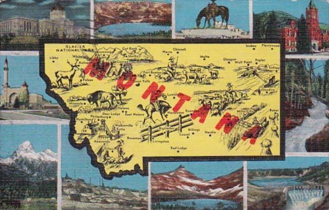 Map Of Montana 1948