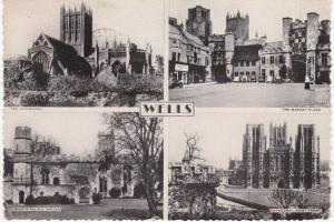 Post Card Somerset Wells 4 views