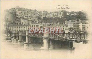 Postcard Old Lyon bridge saint clair (map 1900)