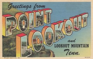 Large Letter POINT LOOKOUT, Tennessee, 30-40s