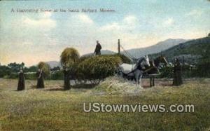 Mission Santa Barbara, CA, California, Post Card