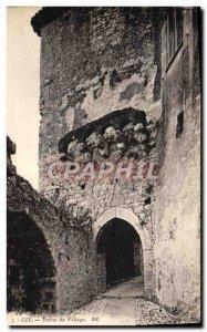 Old Postcard Eze Entree Du Village