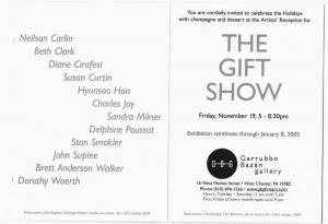 West Chester PA Garrubbon Gallery Art Exhibit Invitation