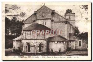 Old Postcard Soulac Sur Mer Our Lady Of Lands End Apses