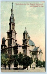SACRAMENTO, California CA ~ CATHEDRAL of the BLESSED SACRAMENT c1910s  Postcard