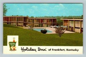 Frankfort KY- Kentucky, Holiday Inn, Motel, Hotel, Chrome Postcard