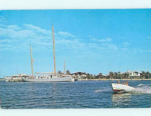 Pre-1980 BOATS AT CORAL HARBOUR CLUB Nassau Bahamas F5694