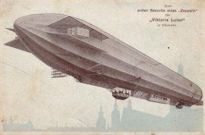Zum ersten Besuche eine Zeppelin , VIKTORIA LUIDE , Chemnitz , Germany , ...