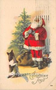 Santa Claus Christmas 1921 postal marking on front