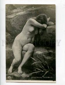 260755 NUDE Nymph FAIRY Crying BELLE by CHANTRON vintage PC