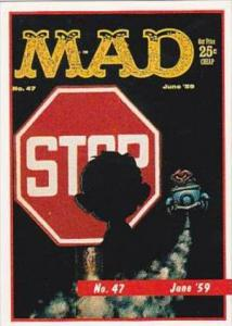 Lime Rock Trade Card Mad Magazine Cover Issue No 47 June 1959