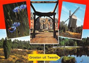 Netherlands Groeten uit Twente, Blumen Palais Muehle mill Forest
