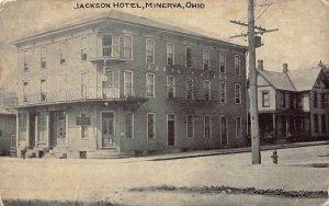 LPS20 MINERVA Ohio Jackson Hotel Postcard