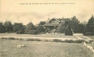 Artvie Ashburn Georgia House by the Road Hotel Postcard Roadside 20-4264