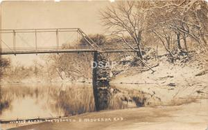 C46/ Neodesha Kansas Ks Real Photo RPPC Postcard 1911 Verdigris River Bridge