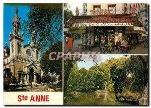 Modern Postcard Paris Church Ste Anne Le Lutetia Tobacco